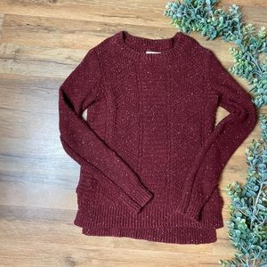 Hollister | Speckled Maroon Oversized Sweater